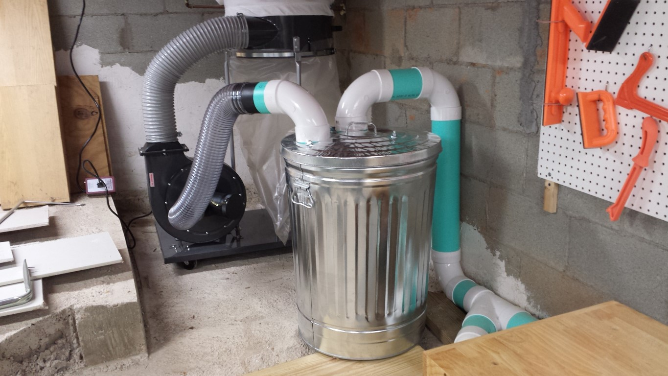 Piping In My Hf Dust Collector